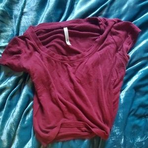 Fitted Maroon Crop Top